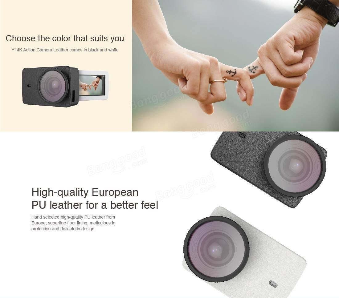 Xiaomi Yi 2 II 4Kカメラ用UV保護レンズ付きオリジナルXiaomi PUレザーケース