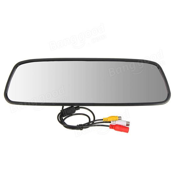 5 Inch LCD Screen Car Rear View Backup Mirror Monitor + Wireless Reverse Camera Kit