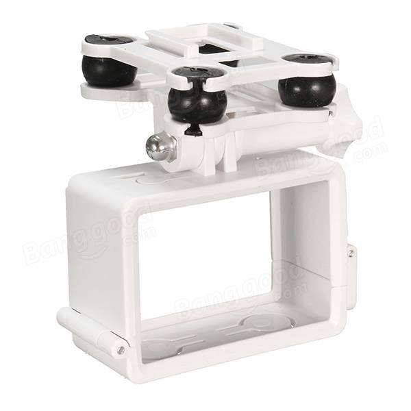 White Shockproof Camera Holder Mount For GoPro SJCAM Syma X8C X8W X8G Quadcopter