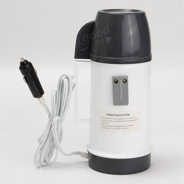 12V 20W 600CC Portable Car Electric Cup Heating Heater Hot Coffee Water 2 Cup Mug Kettle Warmer