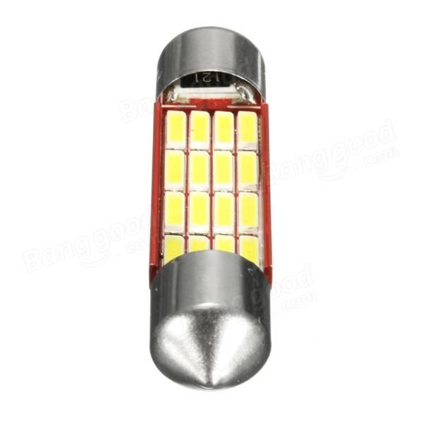 6000K Car Festoon Reading Light Roof Dome License Plate Lamp 白 31mm 36mm 39mm 42mm