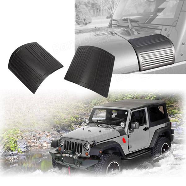 Pair Hood Shields Cover For Jeep Wrangler JK 2007-2016