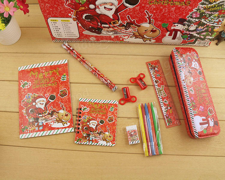 Cute Christmas Stationery Set Christmas Gift Present for Children Kids Students