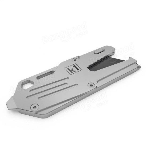 K1 16 in 1 Multifunction Stainless Steel EDC Tool Daily Survival Camping Pocket Tool 45g