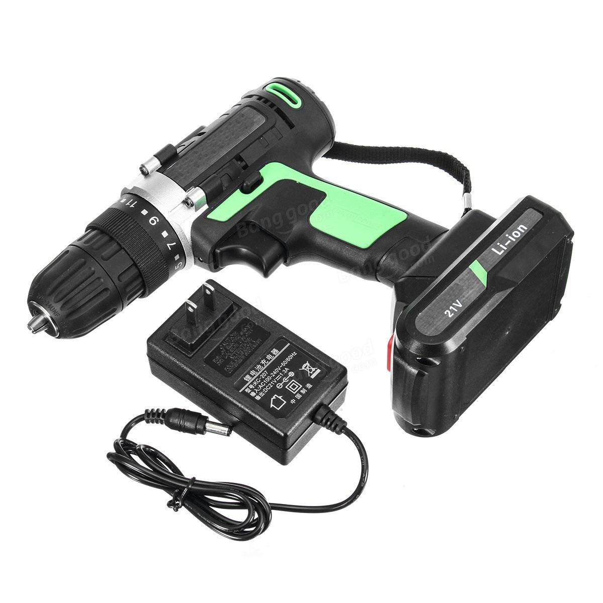 21V Cordless Electric Screwdriver Driver Power Lithium Rechargeable Screwdriver 1 Charger 1 Battery