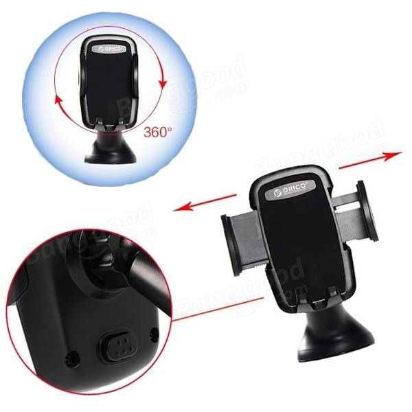 ORICO CBA S1 Suction Cup Car Phones Holder Support for Iphone6 All 3.5 to 6.3 Inch Phones Tablets