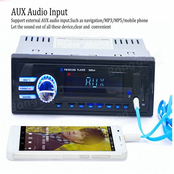 Car In-Dash Bluetooth Stereo Audio FM Radio Aux Input Receiver SD USB MP3 Player