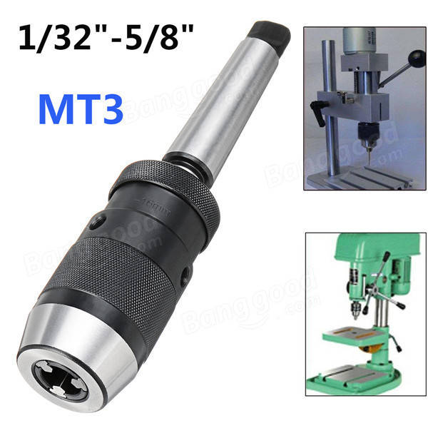 1/32 to 5/8 Inch Keyless Drill Chuck with MT3 JT6 Morse Taper Arbor Shank