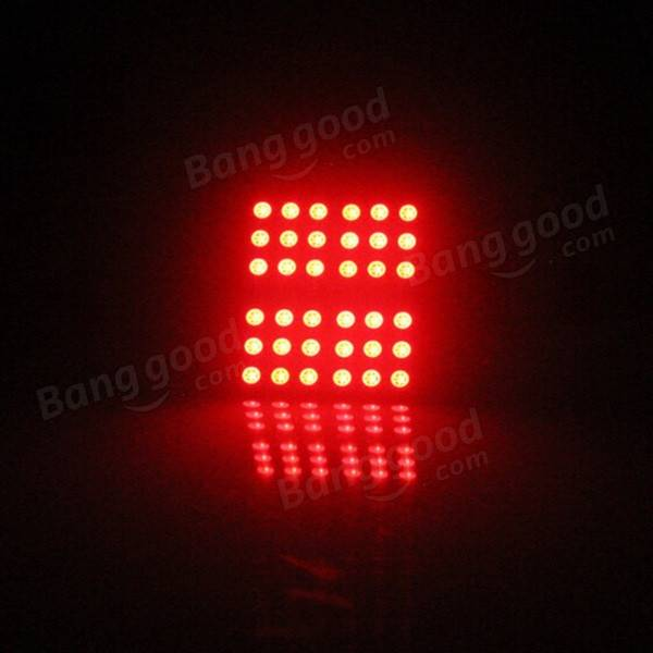 1 Pair RGB T10 Remote Control 5050 Car LED Light Interior Room Lamp 36SMD 50MM