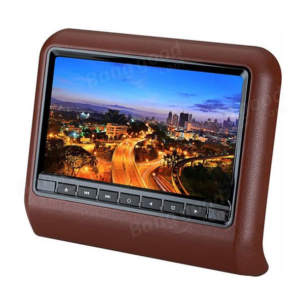 9 Inch HD LCD Car Headrest Monitor Car Head Pillow Plug-in Type DVD Display