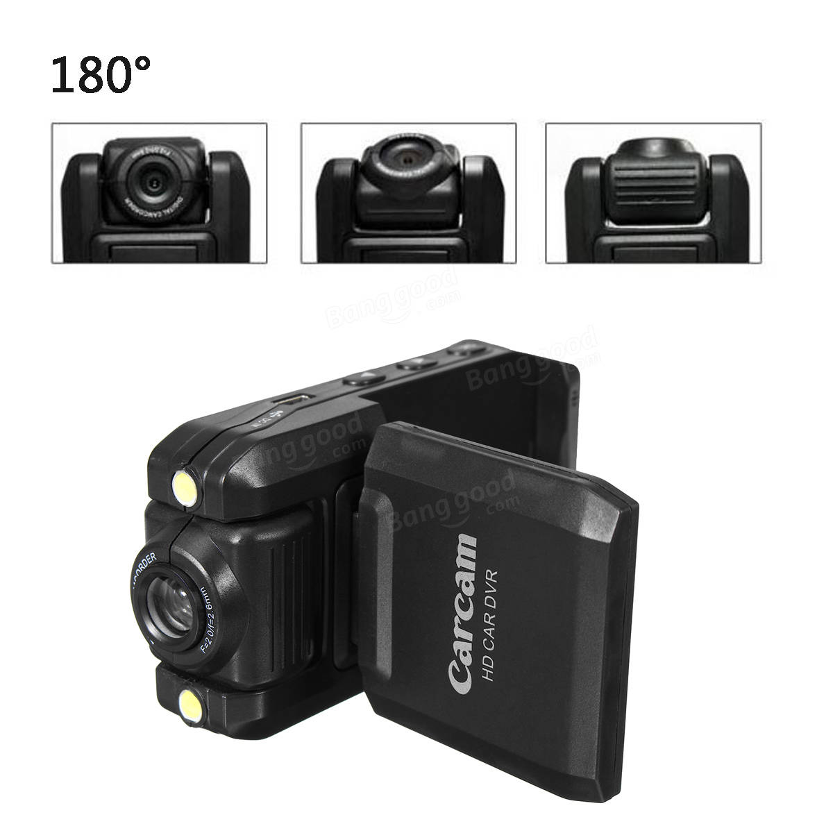 270° Adjustable Night Vision Car DVR Dashboard Camera Dash Cam Video Recorder