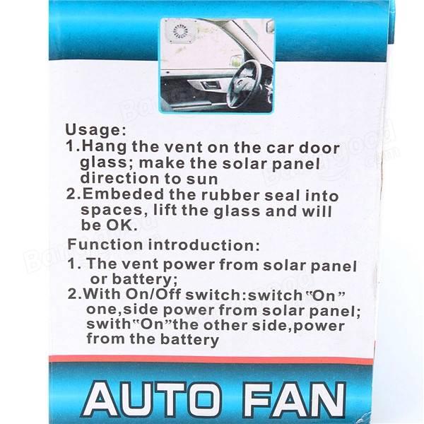 自動車用太陽光発電パワーウィンドウファンベンチレーターオートクールエアベント