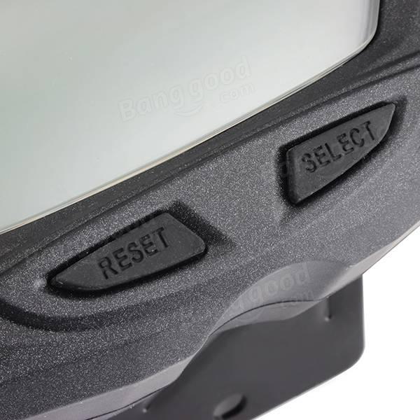moto indicateur de vitesse num rique tachym tre compteur kilom trique 7 couleurs blacklight pour. Black Bedroom Furniture Sets. Home Design Ideas