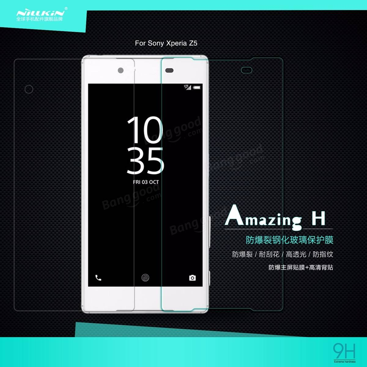 Nillkin H 0.33mm 9H Clear Tempered Glass Screen Protector For Sony Xperia Z5
