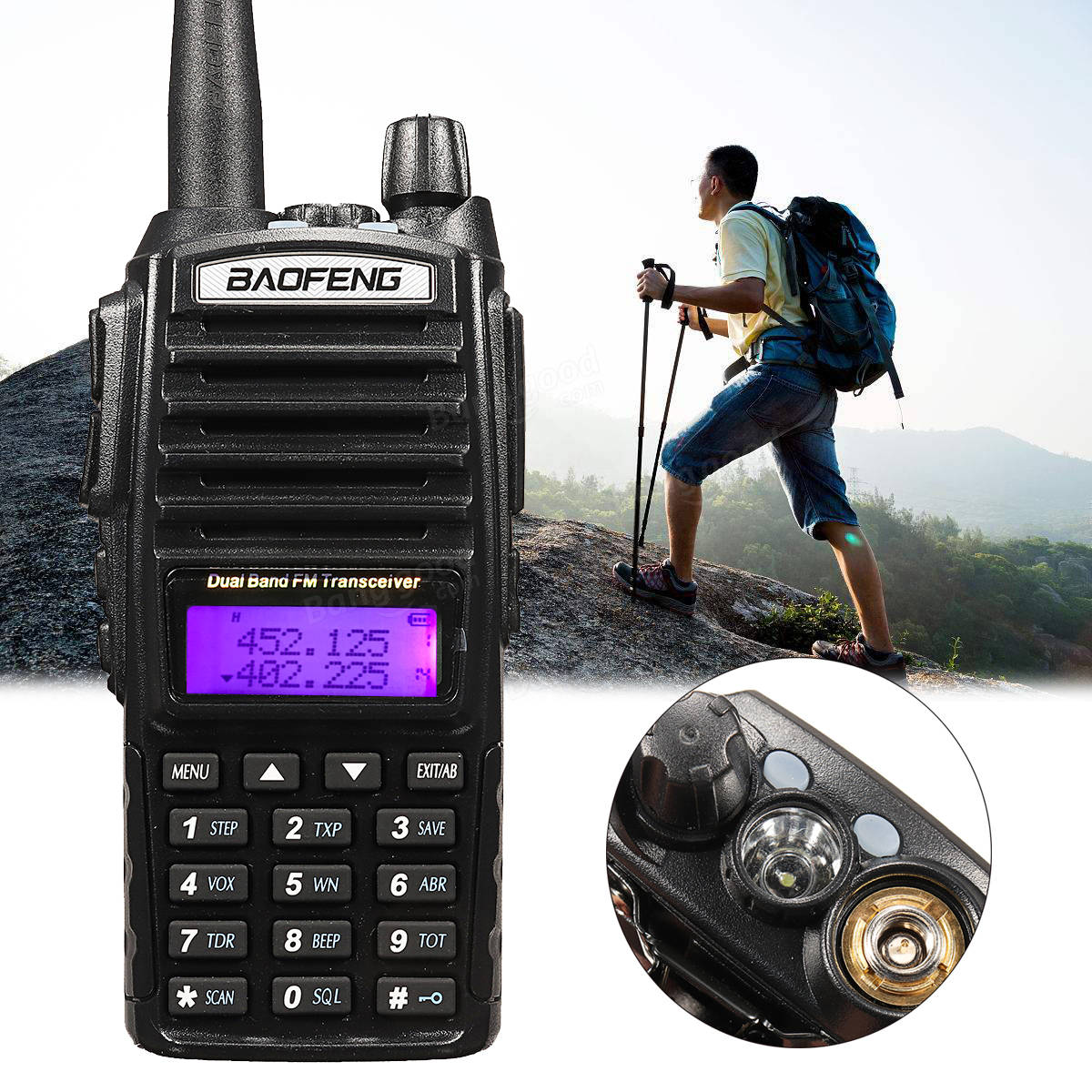 BaoFeng UV-82HP Portable High Power Dual Band Radio Walkie Talkie