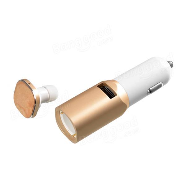 車のBluetoothワイヤレスハンズフリーイヤホン5V車の充電Bluetoothカーキット