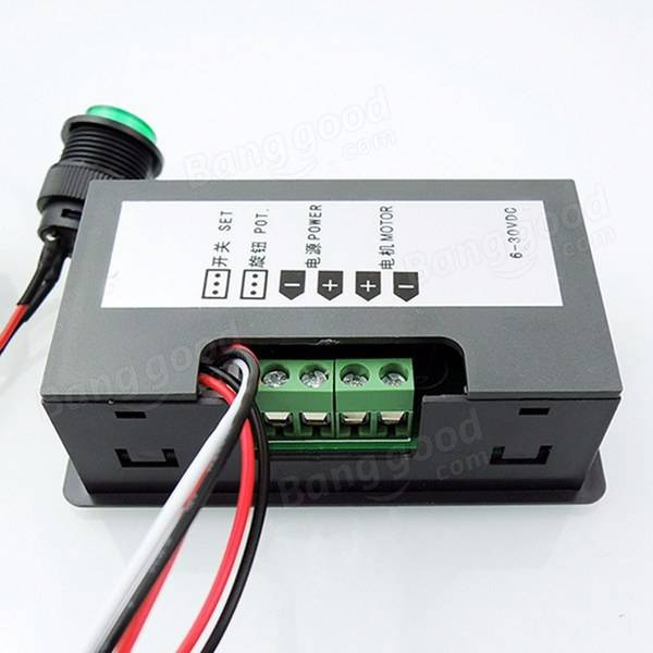 pwm motor speed controller digital display dc 6 30v 12v
