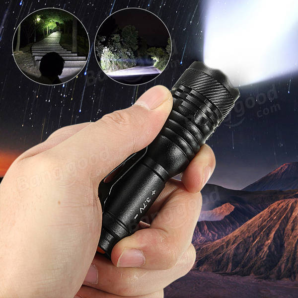 Elfeland Q5 3Modes Zoomable Outdoor LED Flashlight Torch Lamp AA/14500