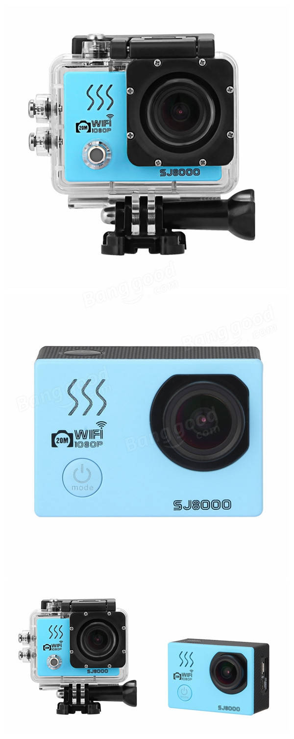 SJ8000 Sport Action Camera Moving WIFI 2K Full HD CMOS 170 Degree Waterproof 40m
