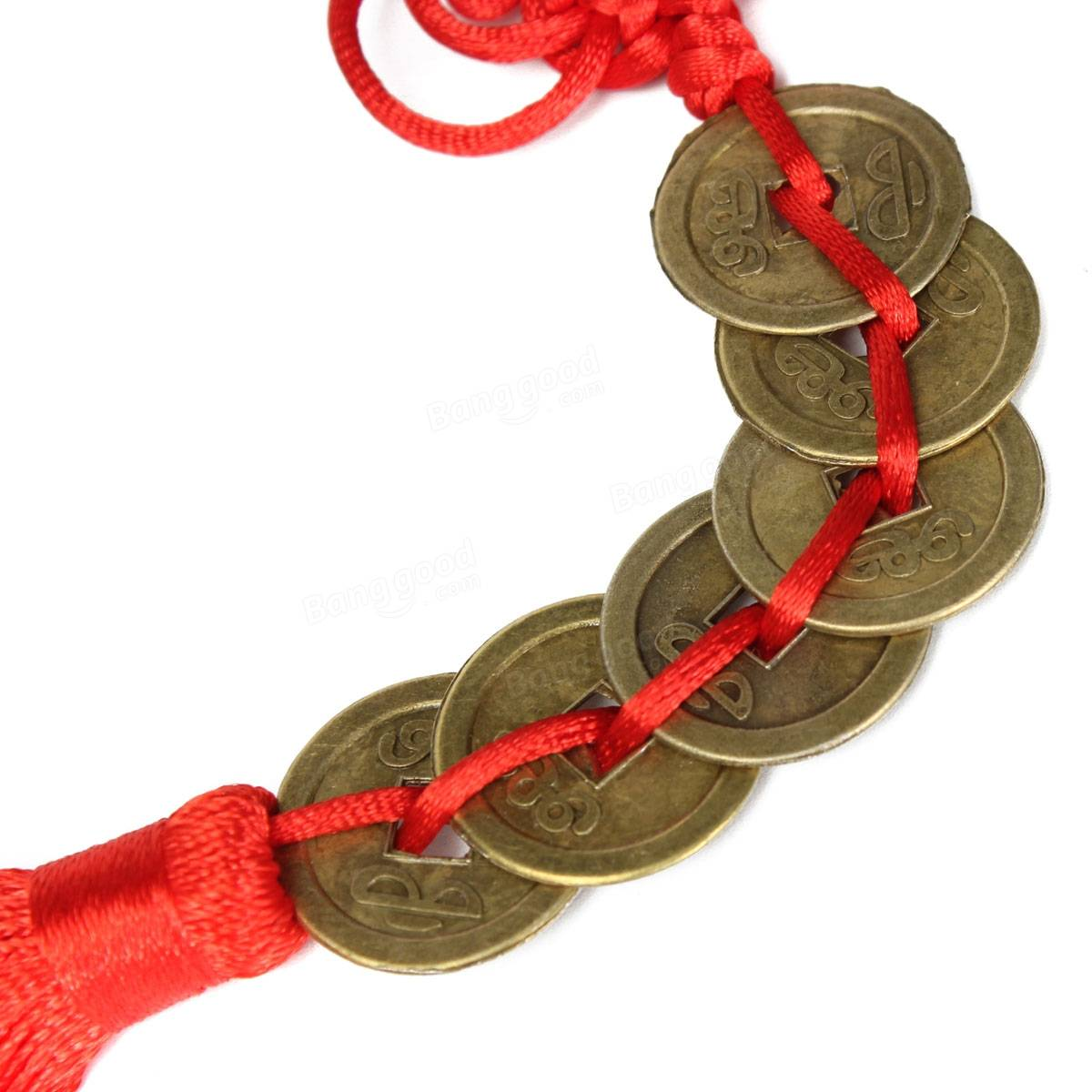 Chinese coins feng shui coin copper pendant for good luck - Feng shui good luck coins ...