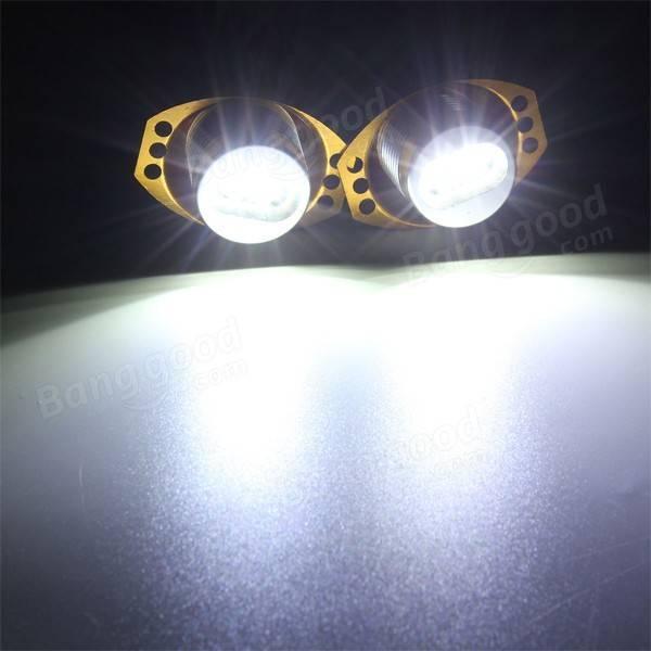 2 x 6000K White 10w Angel Eyes LED Marker Light Lamp Bulbs for BMW E90 E91