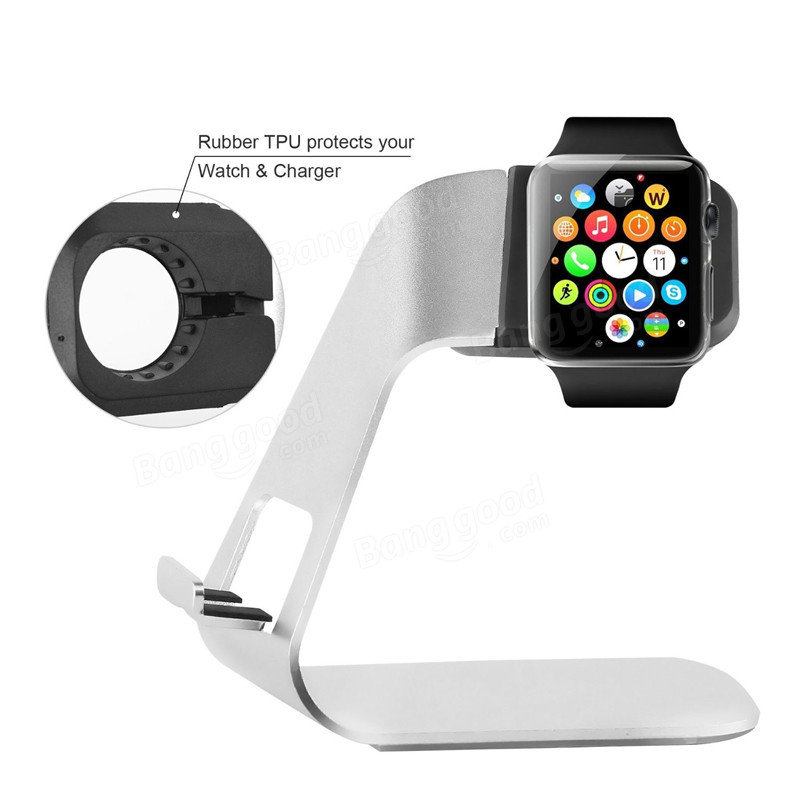 ARCHEER 2 in 1 Watch Stand Phone Holder Aluminium Charging Cradle Bracket Station For Apple Watch