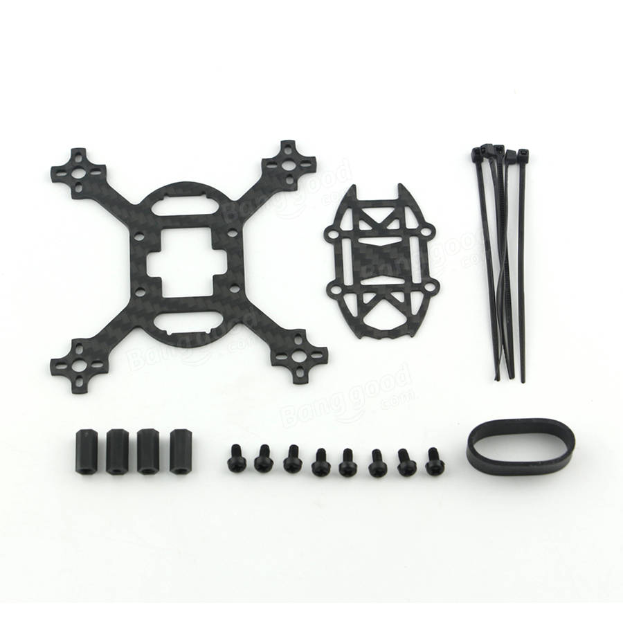 KINGKONG/LDARC Q90 90mm Carbon Fiber FPV Brushless Racer Frame Kit RC Drone FPV Racing Multi Rotor Only 8.7g