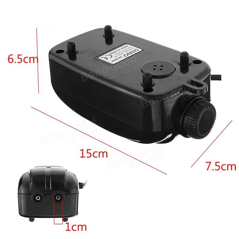 5W 220-240V Double Outlet 4L/min Aquarium Air Pump Water Fish Tank Oxygen Fountain Aerator