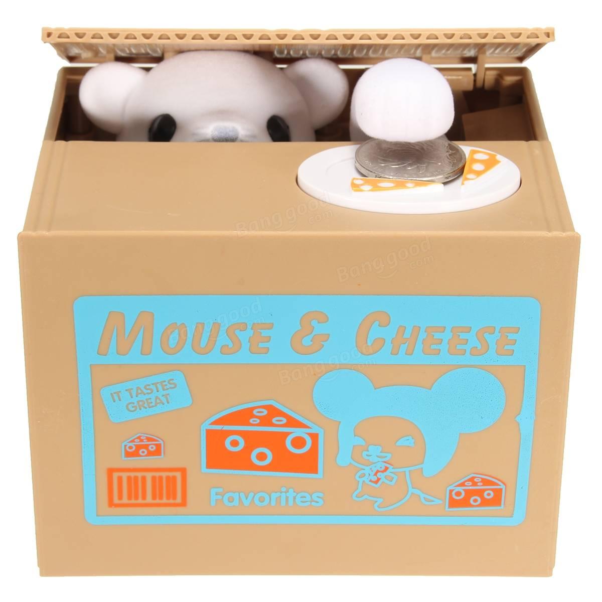 Carino creativo del mouse porcellino salvadanaio rubare le monete ...