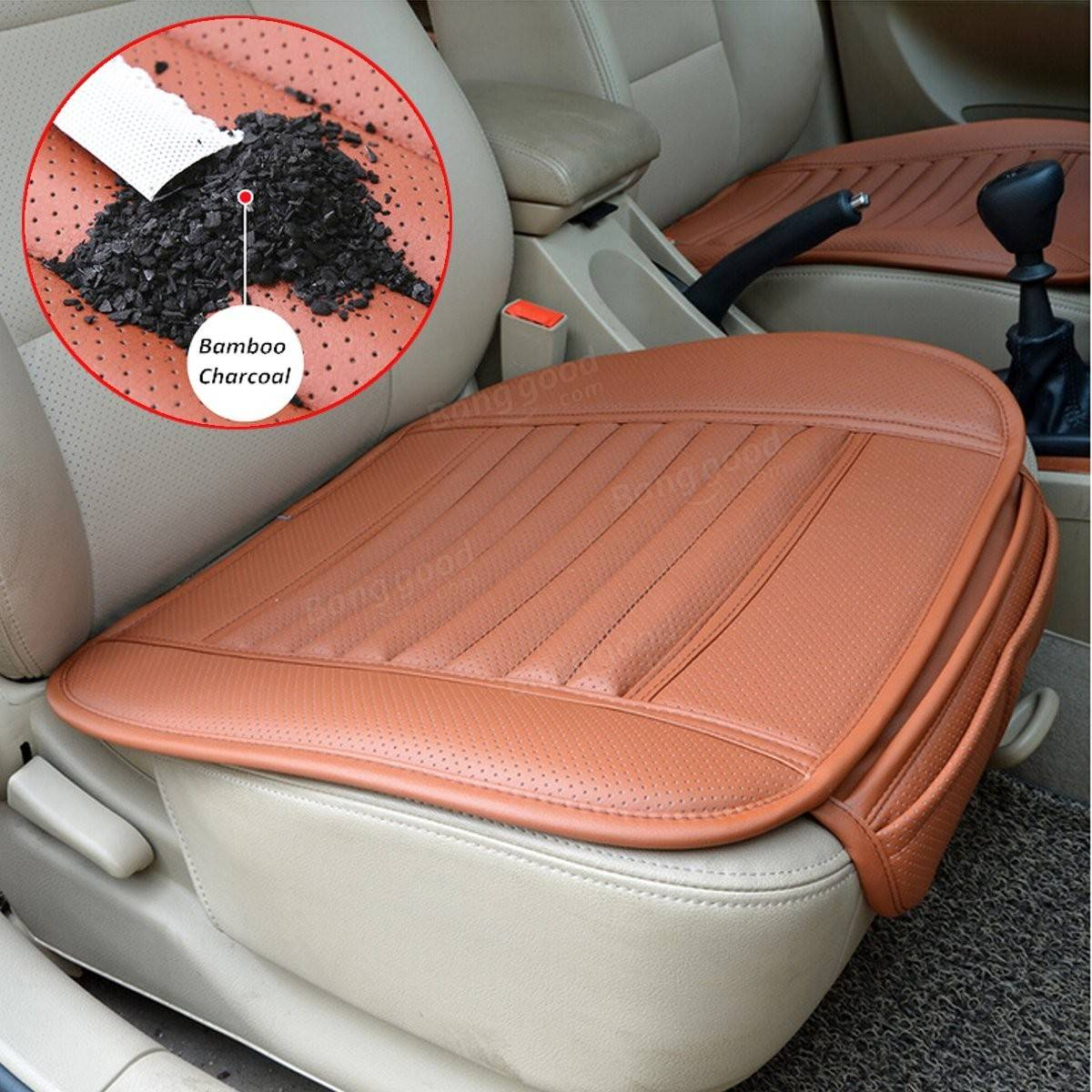Universal Seat Pad PU Leather Bamboo Charcoal Car Cushions