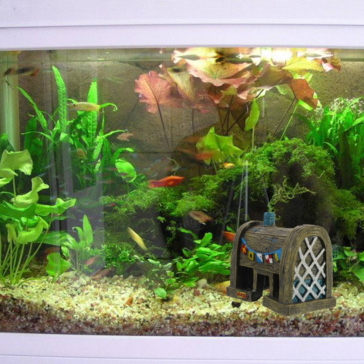 Aquarium landscape decoration resin simulation ancient for Aquarium decoration