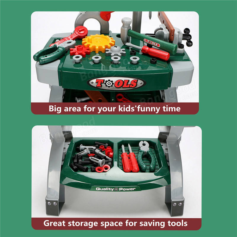 Children DIY Workbench Tools Pretend Role Play Toy Set