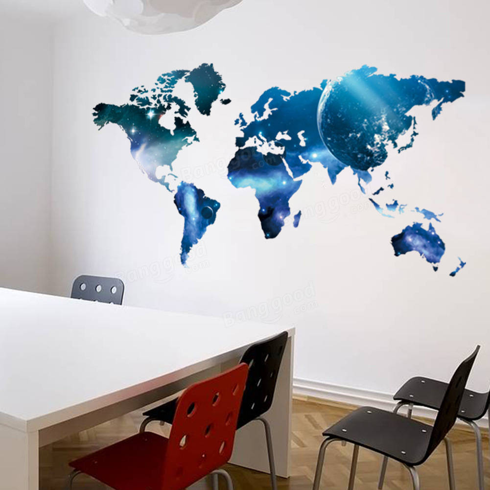 The New Star Lollipop World Map Guest Bedroom Background Wall Stickers Wholesale Home Furnishing Stickers