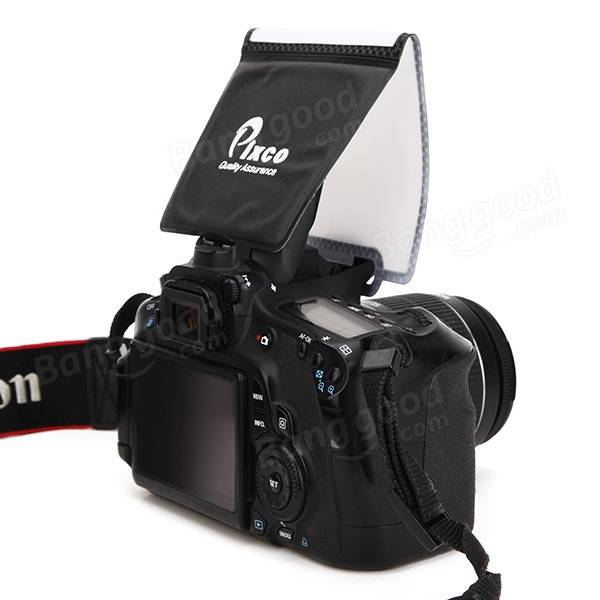 Pixco Universal Soft Screen Pop-Up Flash Diffuser For Nikon Canon Pentax Olympus Panasonic
