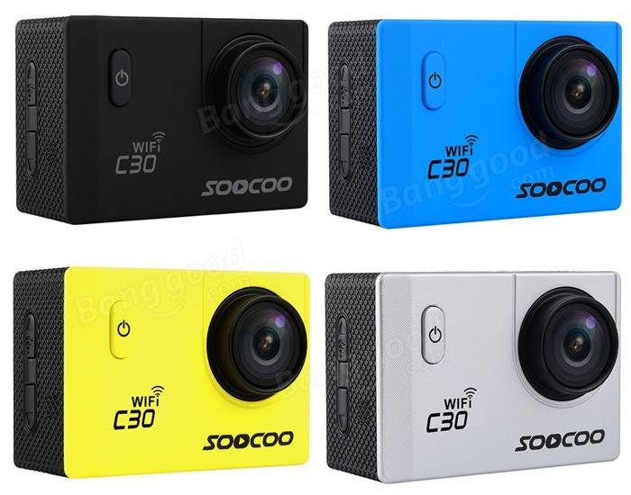 Original SOOCOO C30 WiFi 170 Degree 4K  4K 2.0 170 Degrees Ultra HD Action Camera