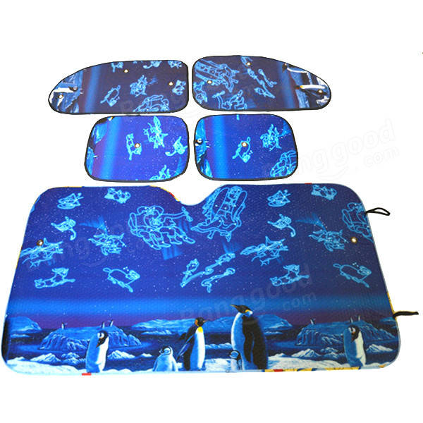 Aluminum Foil Foldable Reflective Car Windshield Shade Sun Block Protection