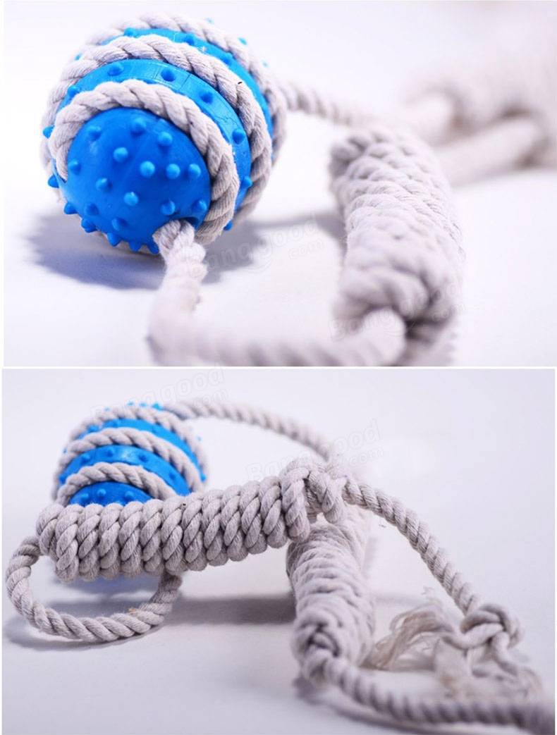 Yani HP-PT1 Pet Dog Bite Rubber Ball Toy Pet Knot Interactive Toys Dog Training Tools