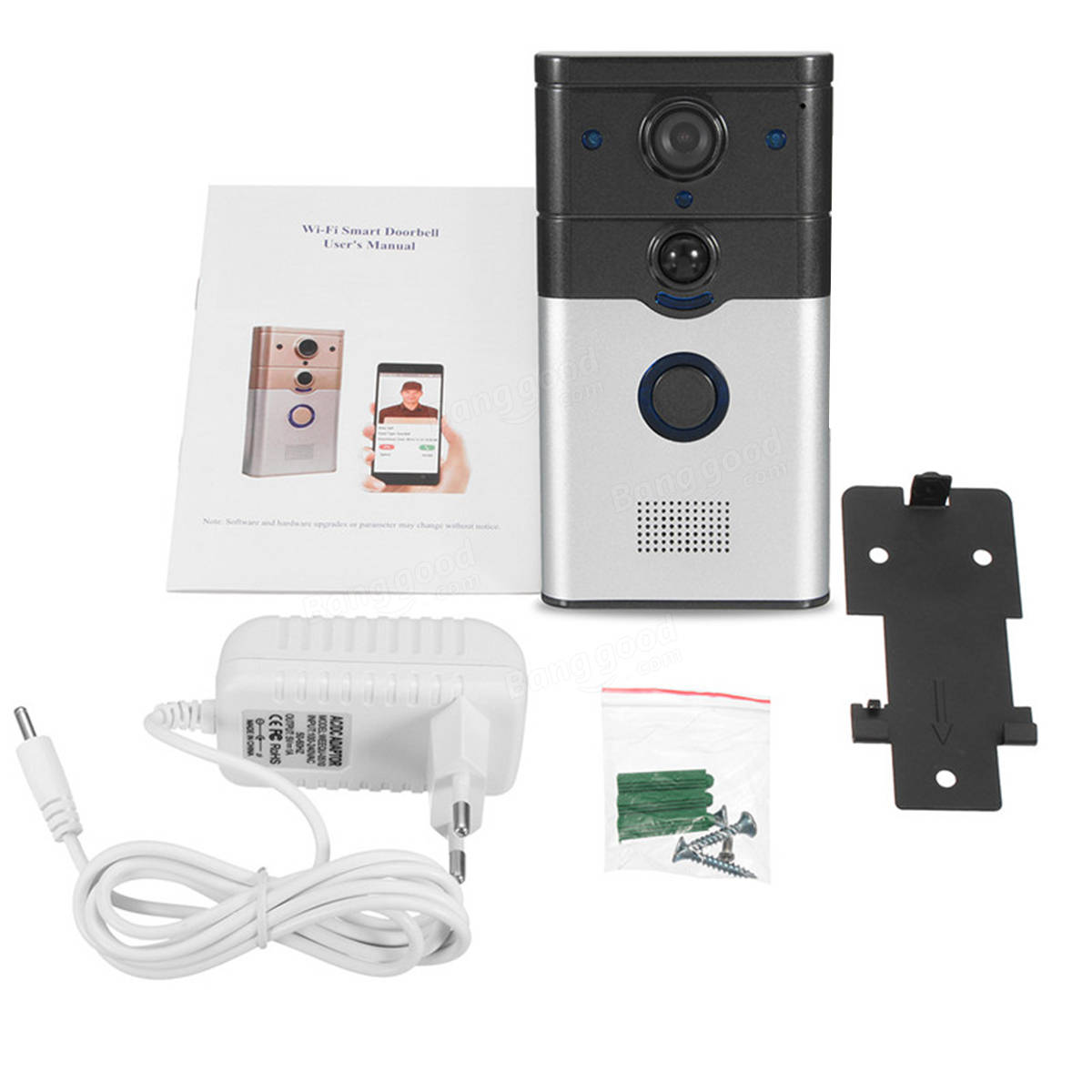 HD WIFI Wireless Smart Doorbell Camera Video Monitor Night Vision Two Way Talk