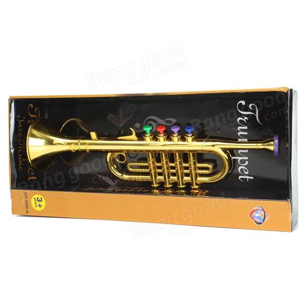 Toy Musical Horns : Emulational horn trumpet musical instrument toy kids gift