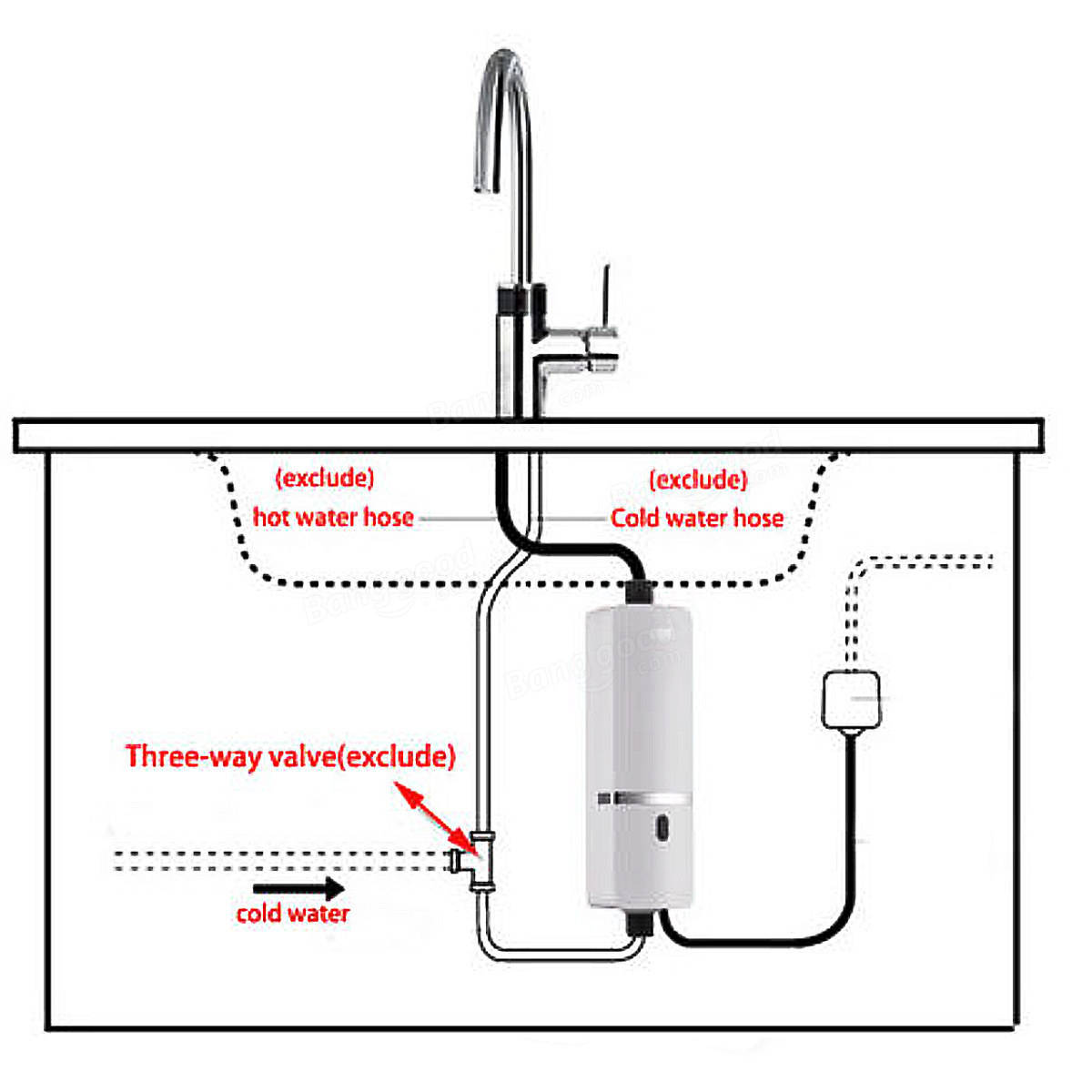 Tankless Water Heater For Boats : New v w instant electric tankless water heater
