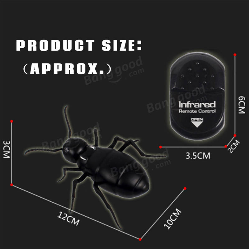 Remote Control Ants Mock Fake Animal Christmas Trick Terrifying Toys For Kids Children Party Fun