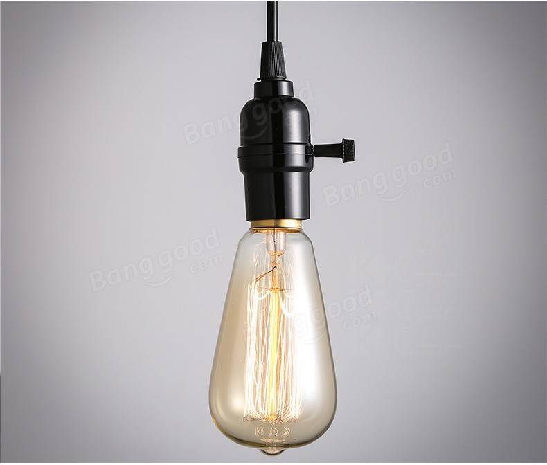 lampe 220v 110v incandescence industrielle ampoules filament e27 retro vintage 40w ampoule. Black Bedroom Furniture Sets. Home Design Ideas
