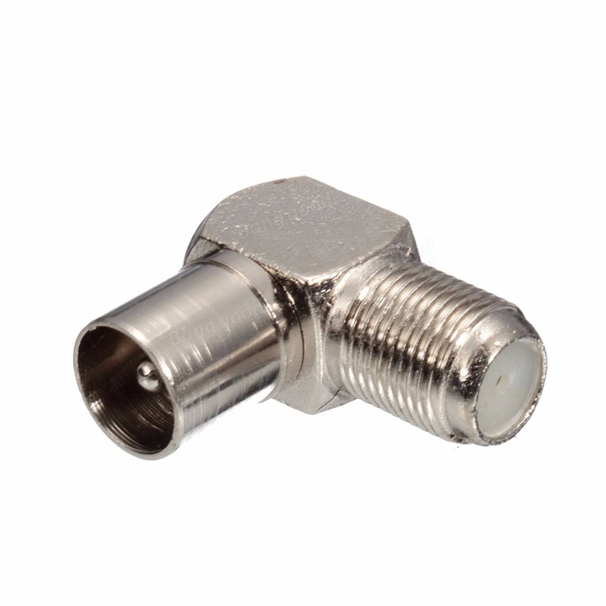 Cable Tv Coax Cable : Degree right angled tv plug coax coaxial f connector