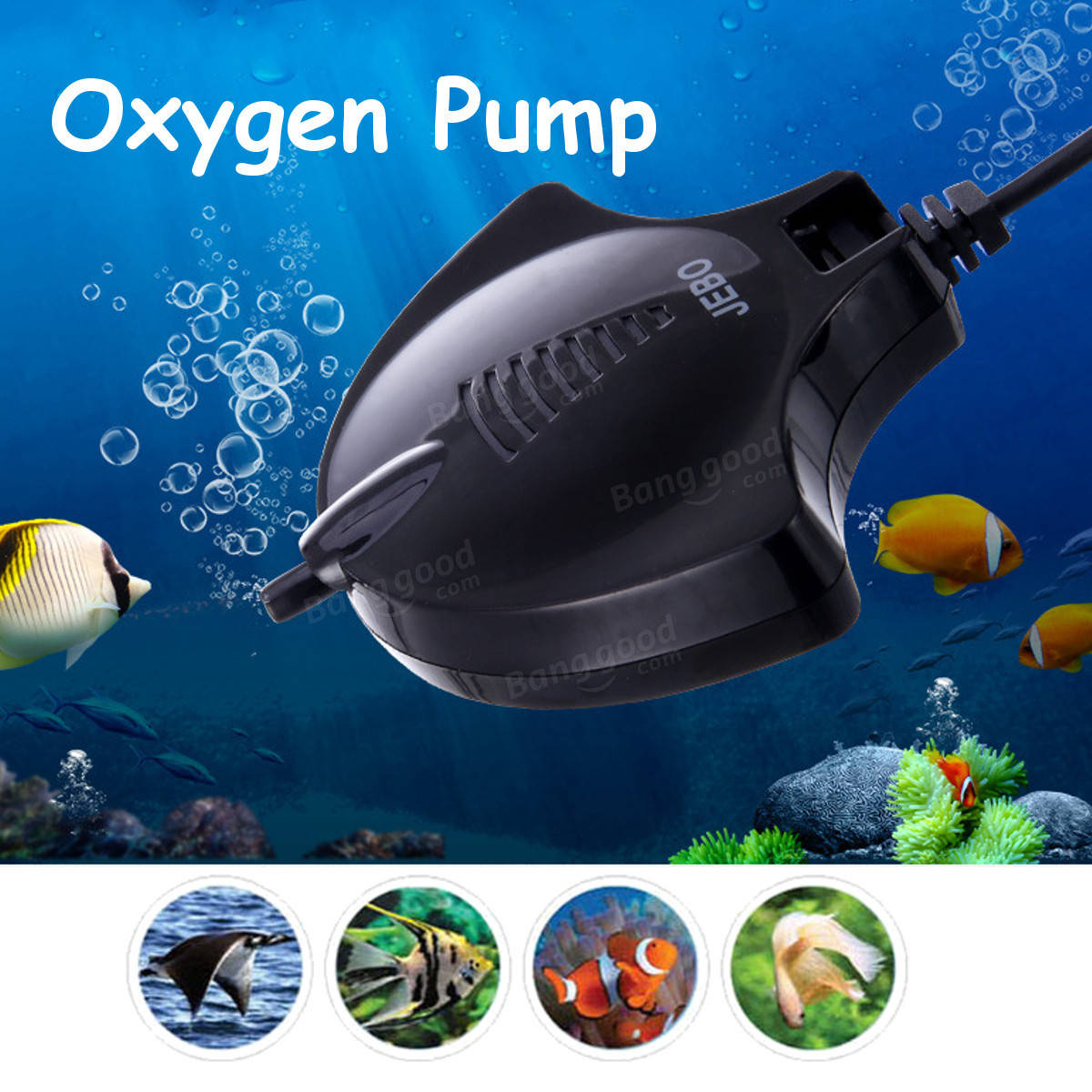 Aquarium Air Pump Ultra Silent High Energy Saving Oxygen Air Pump Aquarium for Fish Tank EU Plug