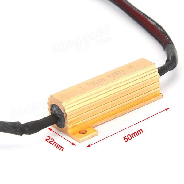 3156 50W-8Ohm Resistor LED Error Warning Canceller Fix Hyper Flash For LED Turn Signal Lights