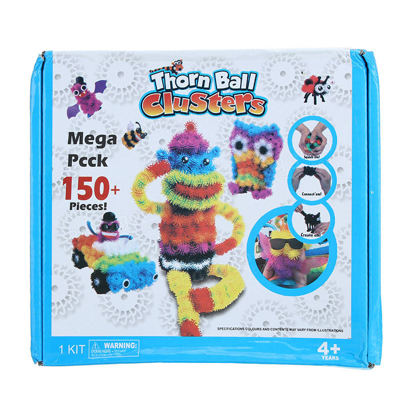 150PCS Assembly 3D Puzzle DIY Puff Ball Squeezed Handmade Toys For Kids Children Christmas Gift