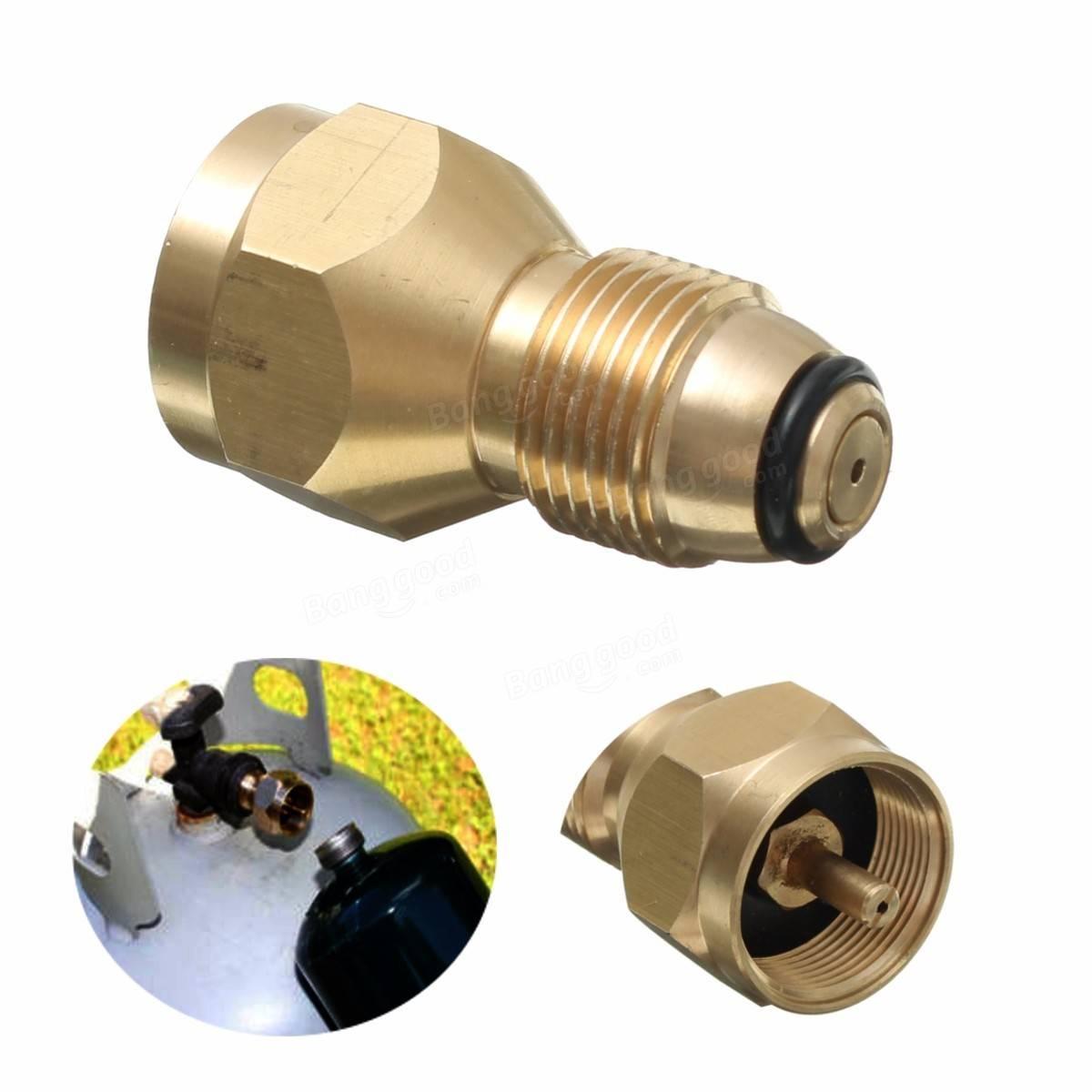 60mm Brass Propane Lp Gas Cylinder Fitting Connector Adapter Sale Banggood Com