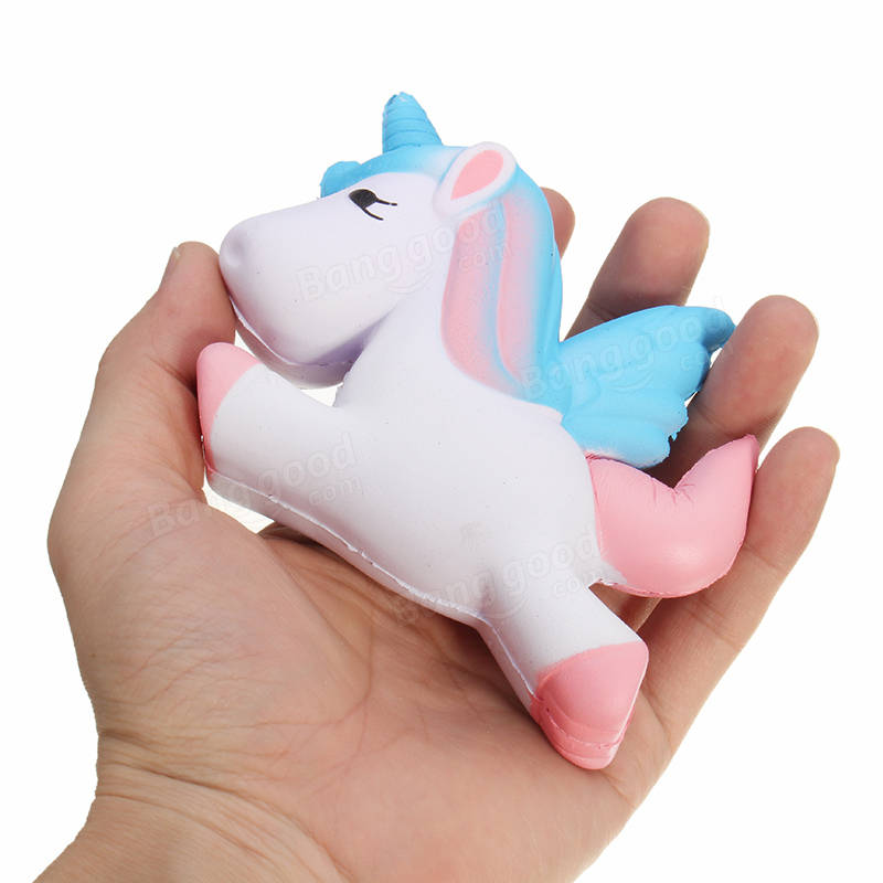 Squishy Unicorn Horse 13cm Multicolor Soft Slow Rising Cute Kawaii Collection Gift Decor Toy