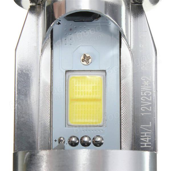 DC6-36V H4 9003 20W 2 LED CE Motorcycle Bulb Headlights Hi/Lo Beam Light White