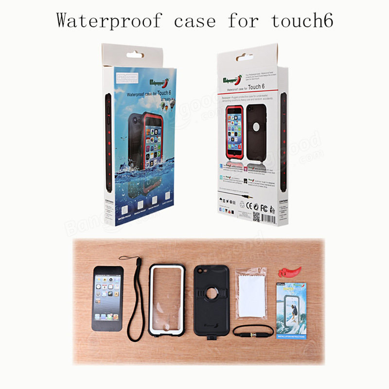 Redpepper Water/Dust/Snow/Shock-proof Stand Case Cover For iPod Touch 6